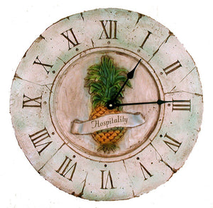 Pineapple decor wall clock