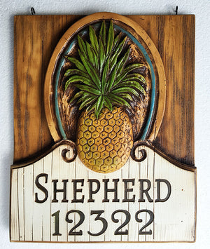 Pineapple Large Hanging Sign
