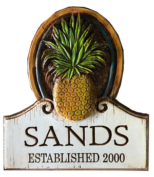 Pineapple Wall Plaque Personalized with your name- large size