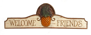 Pineapple Welcome sign Plaque and Door Topper  #504