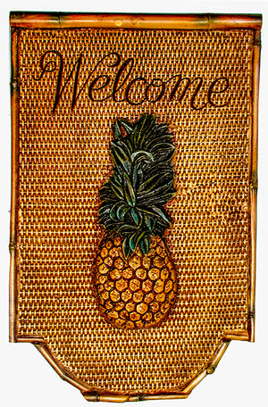 Pineapple Welcome Wall Decor Plaque