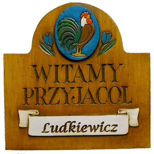 Polish Welcome Sign Personalized