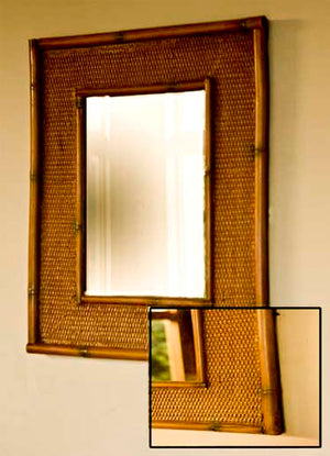 Tropical Decor Bamboo Rattan Mirror  item 725