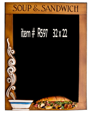 Restaurant Soup and Sandwich Chalkboard Menu Board  item R597