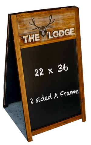 Rustic Carved Large Chalkboard