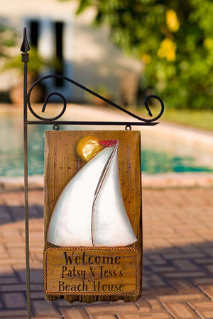 Sailboat Nautical Decor Personalized House Sign