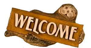 Sea Otter Art Welcome Sign item 364
