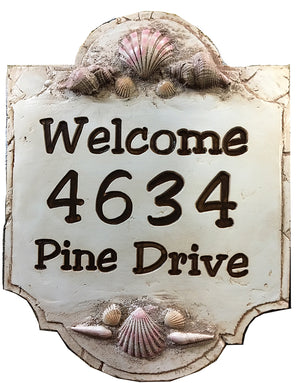 Shell Beach Sign Personalized