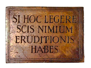 Si Hoc Legere Latin Overeducated wall plaque #544