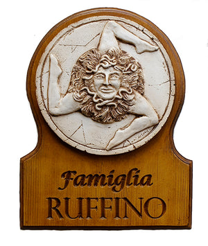 Sicilian Personalized Trinacria Sign for Your Home