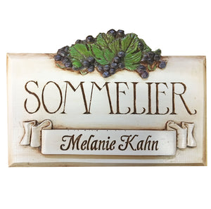 Personalized Wine Sign, Sommelier  Sign personalized  item 733
