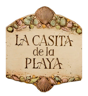 Spanish Beach House Sign