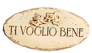 Ti Voglio Bene, I Love You Italian wall plaque