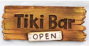 Tiki Bar Open plaque  item 608A