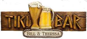Tiki Bar Personalized Beer Sign