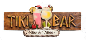 Tiki Bar Sign Personalized Large Version 608LG