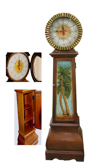 Tropical Decor Palm Tree Clock