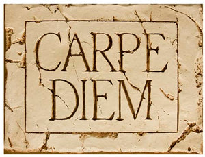 Tuscan decor, Carpe Diem wall plaque