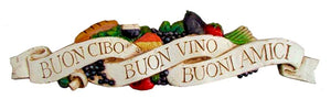 Italian Tuscan Fruit Decor Wall Plaque