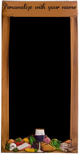 Tuscan Restaurant Kitchen Chalkboard Menu Board item R1541