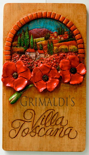 Tuscan Poppy Personalized Sign