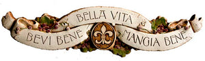 Tuscan theme door topper Bevi Bene 550B