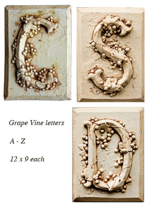 Tuscan Theme Grape Vine Wall Letters  item 106