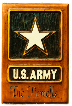 U.S. Army Personalized plaque for home or office