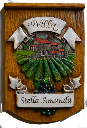 Personalized Italian wall plaque