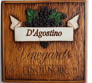 Vineyard personalized wall plaque