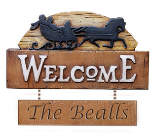 Vintage Personalized Welcome Sign