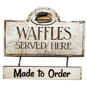 Waffles Restaurant Sign Customized