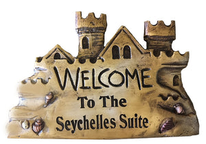 Welcome to our Castle Beach House Personalized Sign