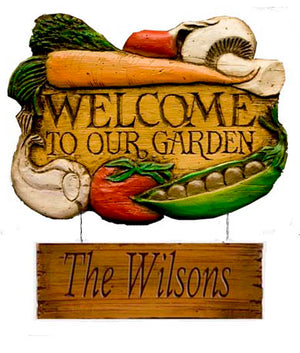 Welcome to our Garden Personalized Sign