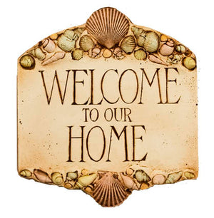 Welcome to Our Home Shell decor sign