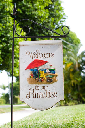 Welcome to our Paradise Yard Sign  and yard stake # 500A
