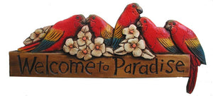 Welcome to Paradise Tropical Welcome Sign #633C