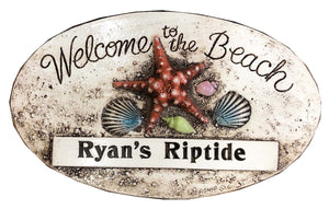 Welcome to the Beach Personalized Sign  item 393B