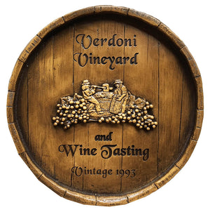 Wine Barrel Custom Sign