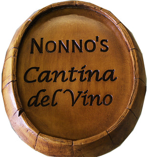 Wine Barrel Sign personalized with your name
