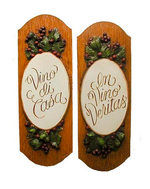 Wine Cellar signs wall art set of 2 item 532A