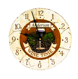 Wine Decor Personalized Clock