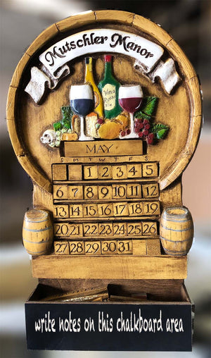 Wine Wall Art Perpetual Calendar