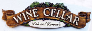 Wine Cellar Personalized Sign item 592P