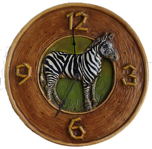 Zebra Decor Wall Clock