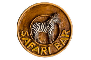 Zebra sign with Safari Bar   item  991
