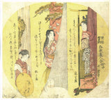 Utamaro: Matsukaze and two other beauties