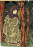 Kunisada: Jiraiya in the Forest Triptych