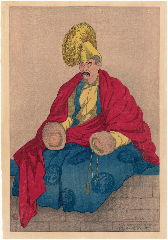 Elizabeth Keith: Lama Priest in Ceremonial Dress