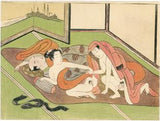 Harunobu: Lovers next to sleeping man